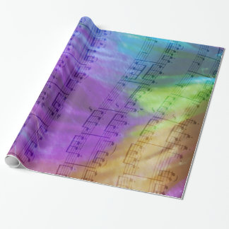 Psychedelic Musical Notes Wrapping Paper