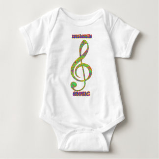 Psychedelic Musicpsychedelic, psychedelia, hippie, Baby Bodysuit
