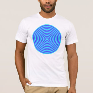 Psychedelic Neon Blue Circles T-Shirt