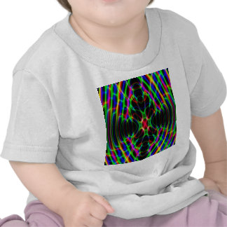 Psychedelic Neon Laser Light Abstract Tee Shirts