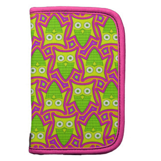 Psychedelic Neon Owl Pattern Organizers