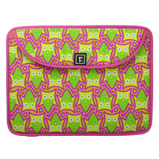Psychedelic Neon Owl Pattern Sleeve For MacBook Pro