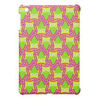 Psychedelic Neon Owl Pern iPad Mini Covers