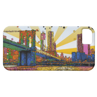 Psychedelic New York City: Brooklyn Bridge, WTC #1 iPhone 5 Covers