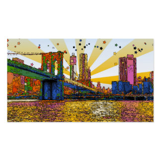 Psychedelic New York City: Brooklyn Bridge, WTC #1 Pack Of Standard Business Cards
