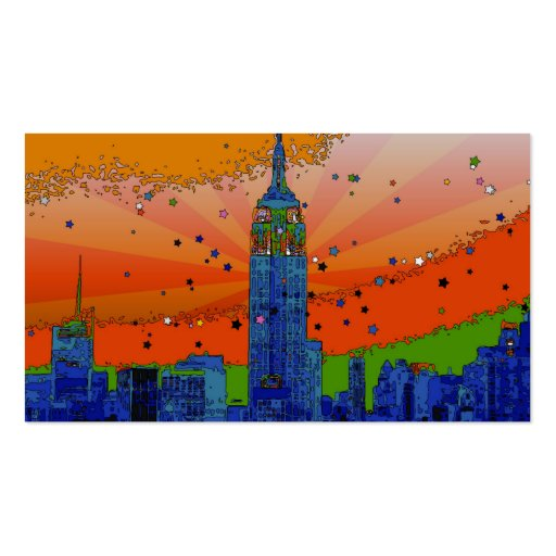 Psychedelic NYC: Empire State Building #3 Business Card Templates