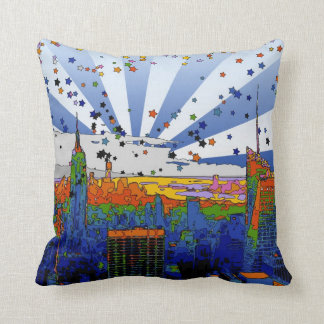 Psychedelic NYC: ESB Wide Skyline View Cushion