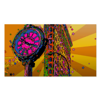 Psychedelic NYC: Flatiron Building & Clock #2B Pack Of Standard Business Cards