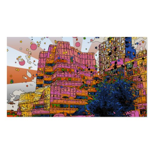 Psychedelic NYC: IAC Building, 100 W 11th Street Business Card Templates