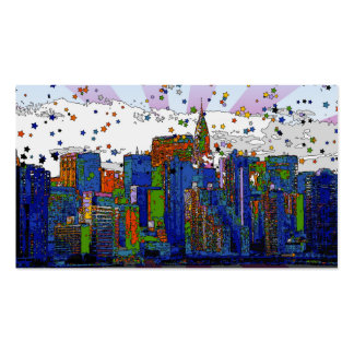 Psychedelic NYC: NYC Skyline, Chrysler Bldg Pack Of Standard Business Cards