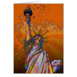 Psychedelic NYC: Statue of Liberty 001 Greeting Cards
