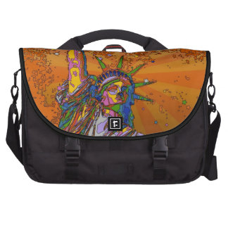 Psychedelic NYC: Statue of Liberty 001 Commuter Bags