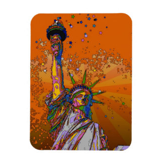 Psychedelic NYC: Statue of Liberty 001 Vinyl Magnet