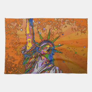 Psychedelic NYC: Statue of Liberty 001 Towel