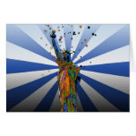 Psychedelic NYC: Statue of Liberty #2 Greeting Card