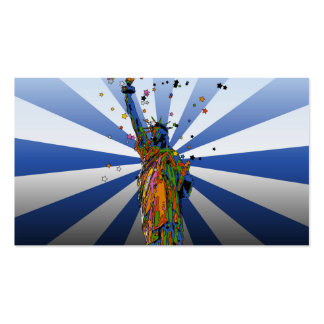 Psychedelic NYC: Statue of Liberty #2 Pack Of Standard Business Cards