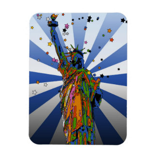 Psychedelic NYC: Statue of Liberty #2 Flexible Magnets
