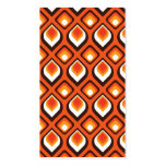 Psychedelic Orange bookmark Business Cards