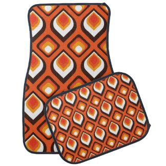 Psychedelic orange car mat