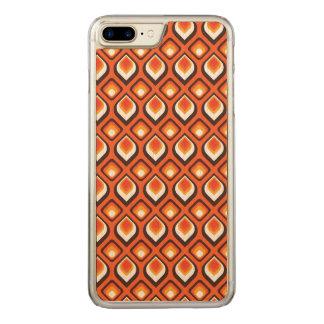Psychedelic orange carved iPhone 8 plus/7 plus case