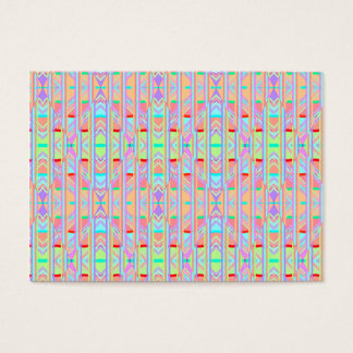 Psychedelic Orange Cool Abstract Triangle Pattern Business Card