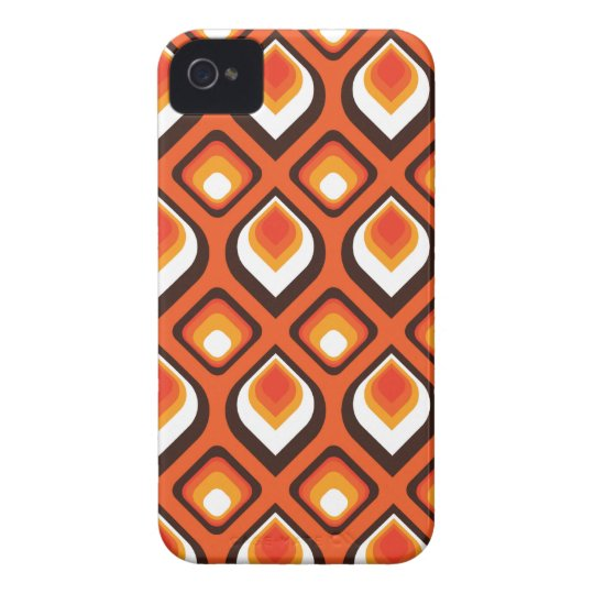 Psychedelic orange iPhone 4 Case-Mate cases