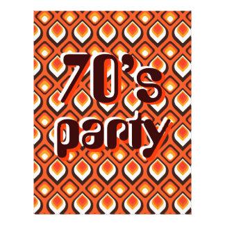 Psychedelic Orange Seventies party 21.5 Cm X 28 Cm Flyer