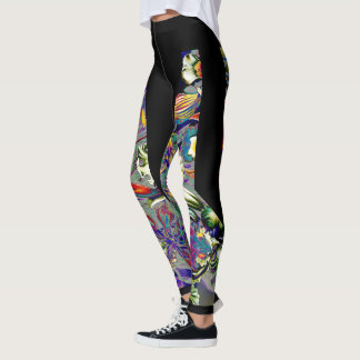 Psychedelic Orchid Leggings