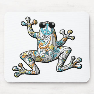 Psychedelic Paisley Frog Mouse Mat