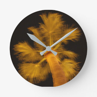 Psychedelic Palm Tree clock