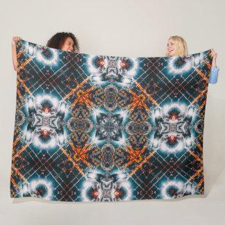 Psychedelic Parkour Cityscape Mandala Fleece Blanket