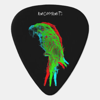 Psychedelic Parrot Guitar Picks