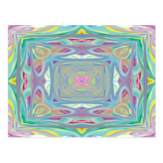 Psychedelic Pastel card Postcard