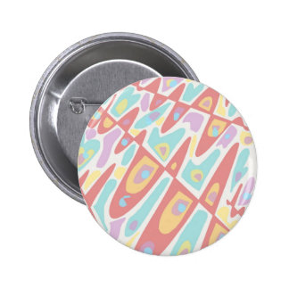 Psychedelic Pastels 6 Cm Round Badge