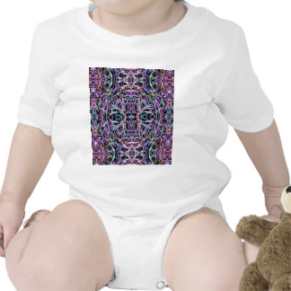 Psychedelic Pattern in Pink Baby Bodysuit