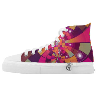Psychedelic Pattern Printed Shoes