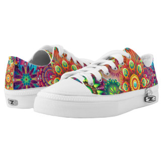 Psychedelic patterns low tops