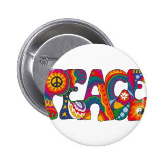 Psychedelic Peace 6 Cm Round Badge