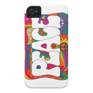 Psychedelic Peace and Love iPhone 4 Case