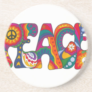 Psychedelic Peace Beverage Coaster