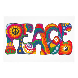 Psychedelic Peace Customized Stationery