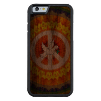 Psychedelic Peace Dove Carved Walnut iPhone 6 Bumper Case