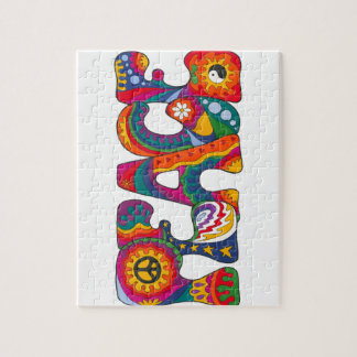 Psychedelic Peace Jigsaw Puzzle