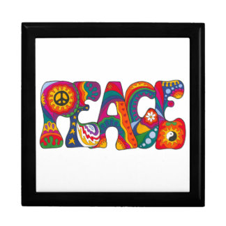 Psychedelic Peace Large Square Gift Box