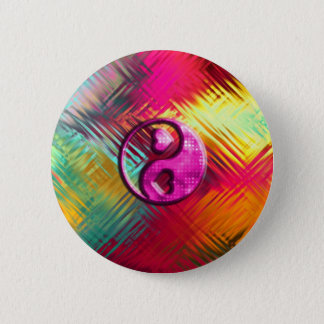 Psychedelic Peace Love Design 6 Cm Round Badge