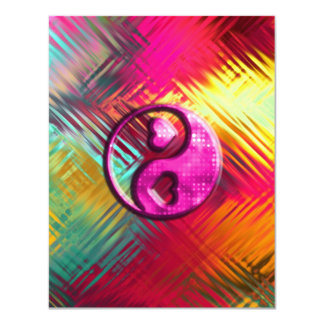 Psychedelic Peace Love Design Card
