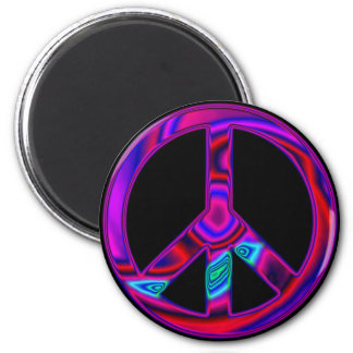 Psychedelic Peace Magnet