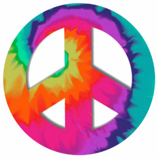 Psychedelic Peace Pin Photo Sculpture Badge