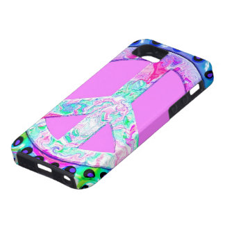 Psychedelic Peace Sign Abstract iPhone 5 Cover