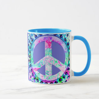 Psychedelic Peace Sign Abstract Mug